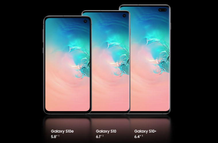 les 3 modèles de S10 Samsung